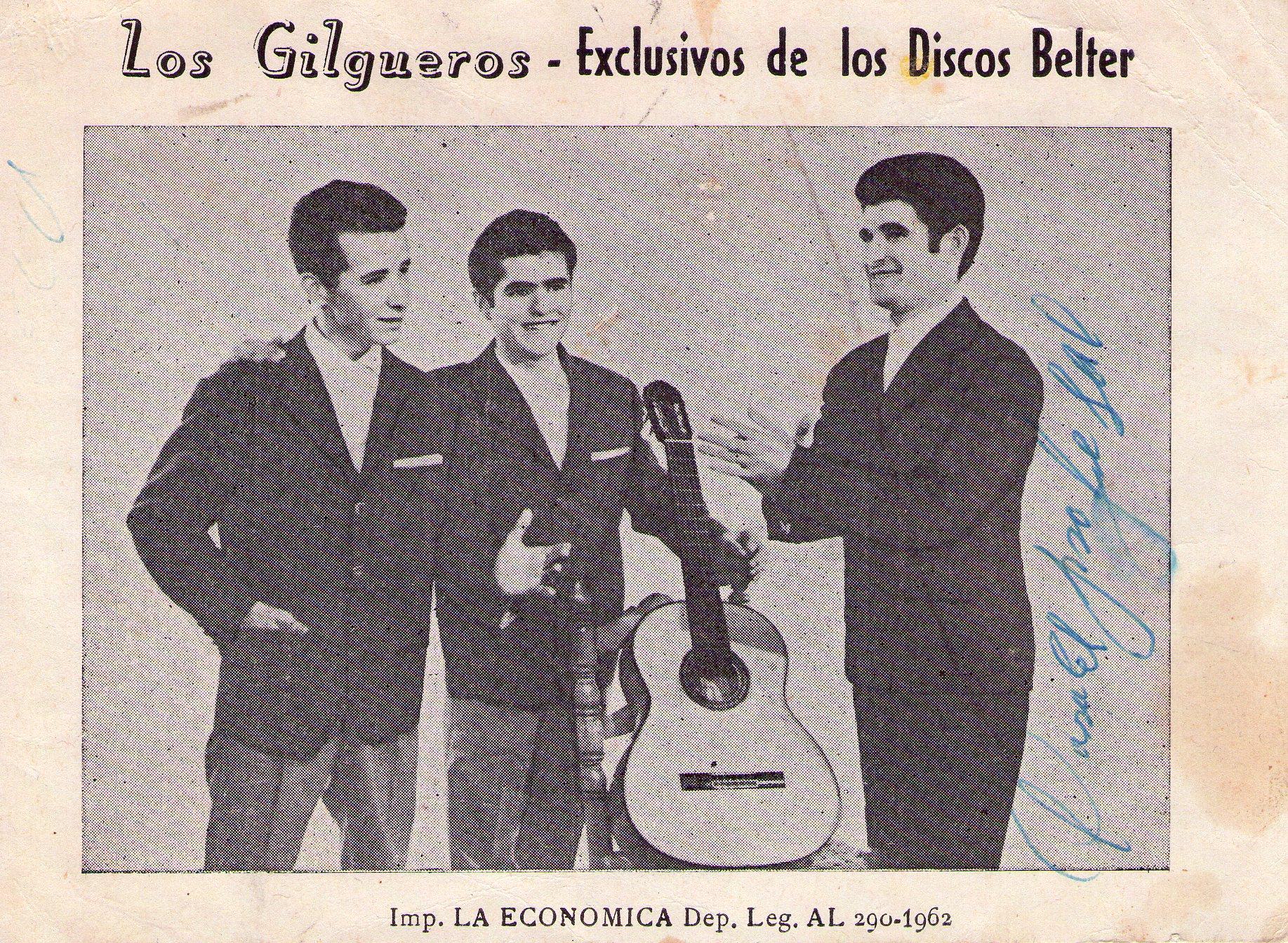 Portada disco de Los Jilgueros 1962