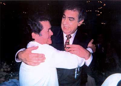 Alfonso y Placido Domingo