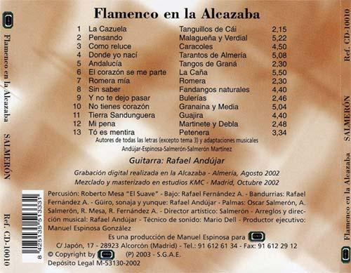 Contraportada Flamenco en la Alcazaba