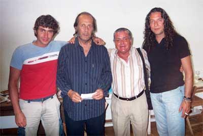 Salmeron con Paco de Lucia, Tomatito y el hijo de Alfonso